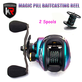 2020 New MAGIC PILL Ultralight 159g Dual Spools BFS Reel Baitcasting Reel 8.0:1 MAX Braking 6kg Reel Bait Casting For Bass Trout