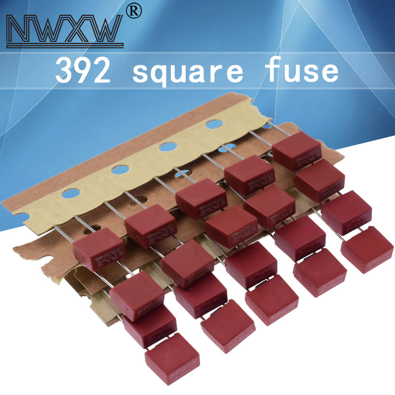 20pcs Fuse T500MA 2A 1A 3.15A 4A 5A 6.3A 250V 392 Square Plastic Fuse T2A LCD TV Power Board Commonly Used Fuses Slow Blow Fuse