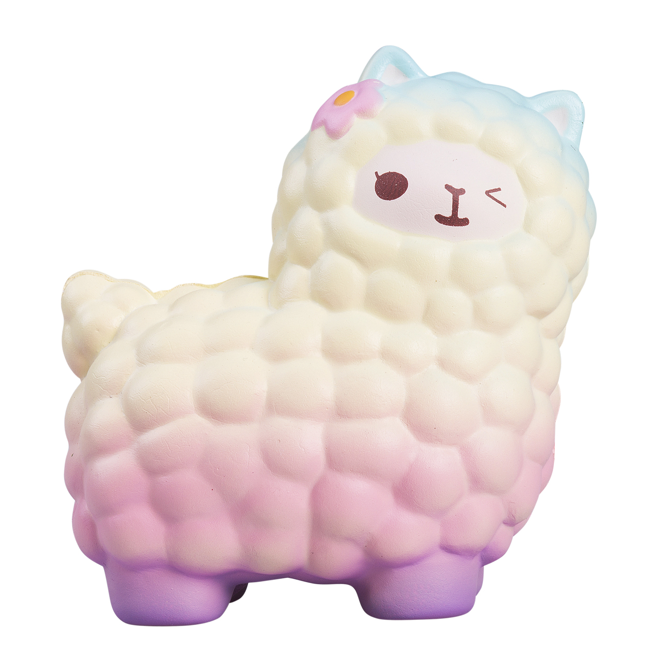 Kawaii Jumbo Sheep Alpaca Squishy Cute Slow Rising Animal Squishy Squish Wholesale Exquisite Kids Gift