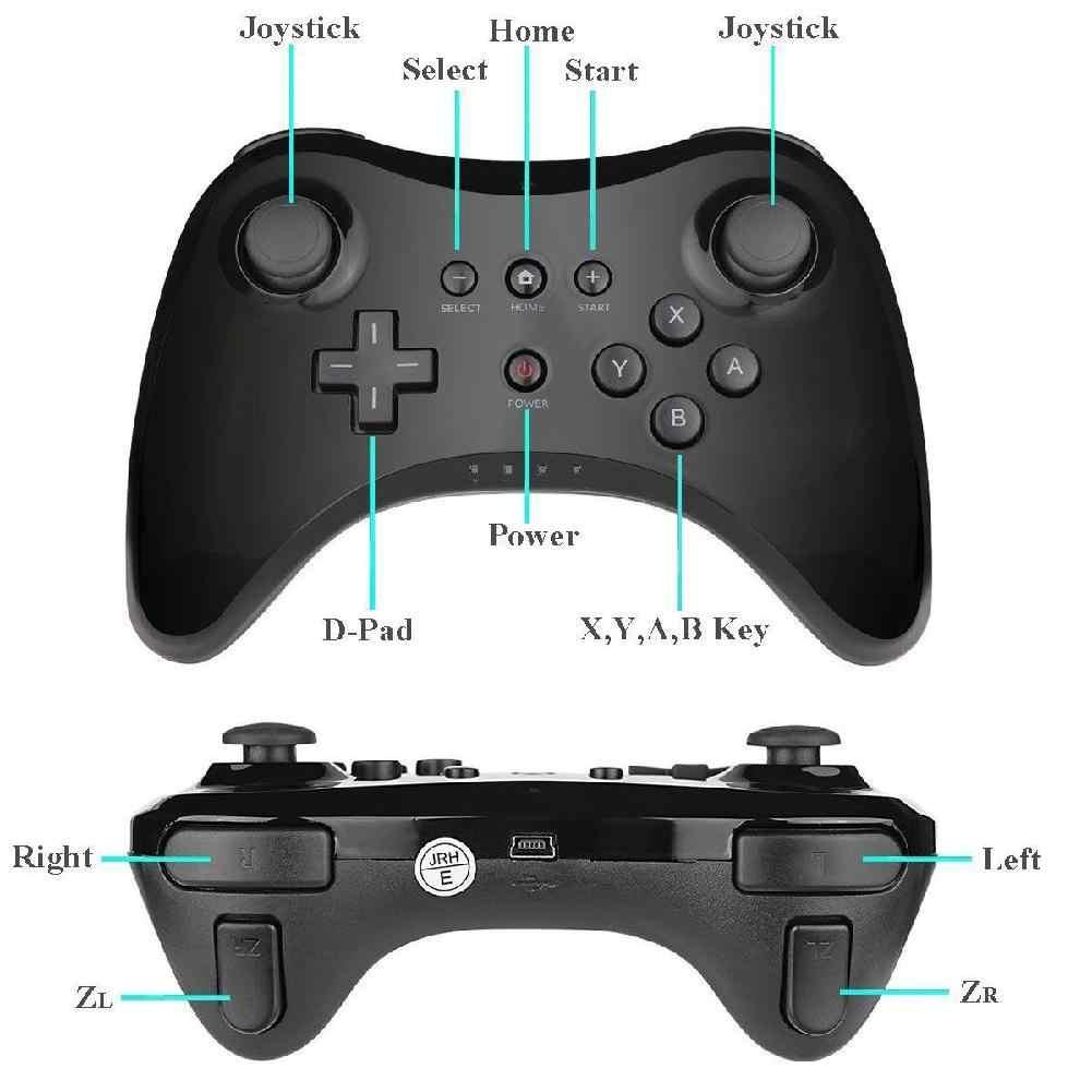 Kablosuz klasik Pro denetleyici Joystick Gamepad nintendo wii U Pro USB kablosu kablosuz denetleyici r60