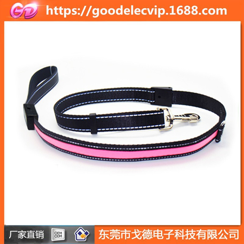 USB Charging LED Shining Dog Traction Rope Small And Medium Quan La Dai Pet Supplies Factory Price