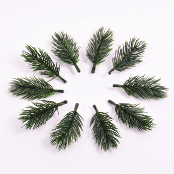 10pcs Pine Branches Artificial Plants Christmas Wedding Home Tree Decorations DIY Handcraft Bouquet Gift Box Fake Needle - discount item  40% OFF Festive & Party Supplies