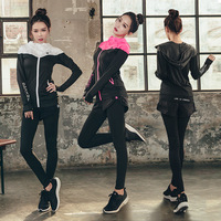 The new suit peach heart running jacket fake two piece pants lady suit three piece suit