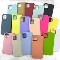Custodie in Silicone ufficiali originali per iPhone 11 12 Pro X XR XS SE 2020 custodia per iPhone 12 Pro Max 7 6 8 Plus Cover completa con scatola