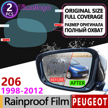 цена на For Peugeot 206 206+ 206cc 206sw CC SW 1998-2012 Full Cover Anti Fog Film Rearview Mirror Rainproof Anti-Fog Films Accessories
