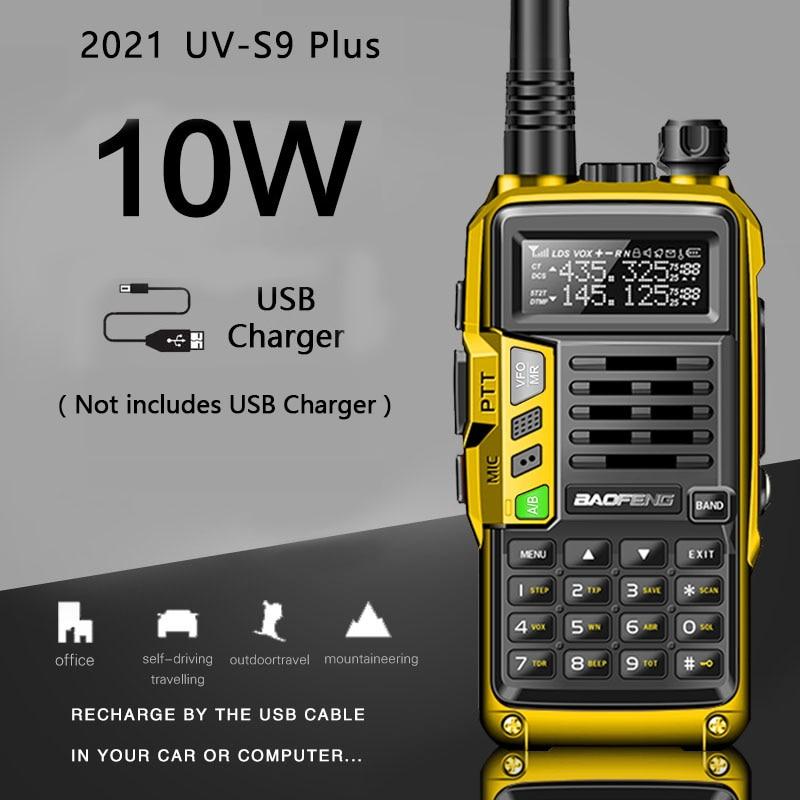 2021 BaoFeng UV-S9 плюс мощный иди и болтай Walkie Talkie CB радио приемопередатчик 8 Вт/10 Вт с радиусом действия 10 км дальность в uv-5r Портативный радио Охота...