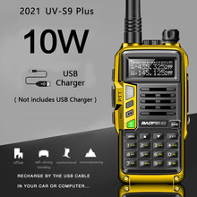 2021 baofeng UV-S9 mais poderoso walkie talkie cb rádio transceptor 8w/10w 10km de longa distância até uv-5r portátil rádio caça cidade
