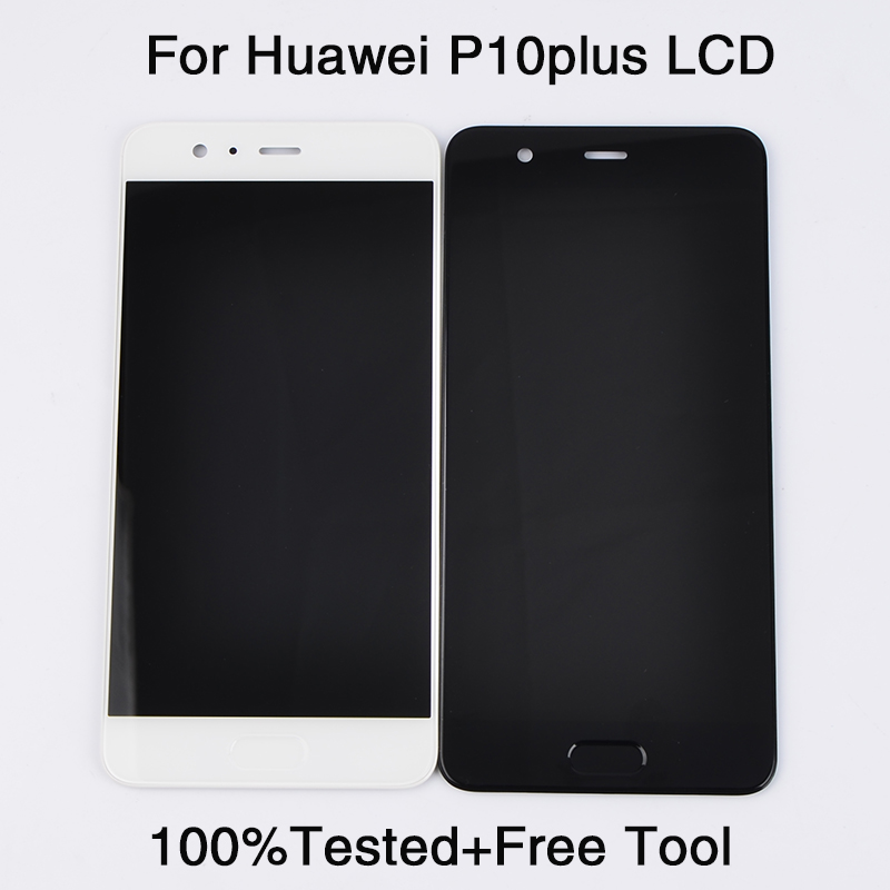"For Huawei P10 Plus LCD Display + Touch Screen Digitizer Assembly Repair Replacement Parts 5.5"" For VKY-L09 VKY-L29"