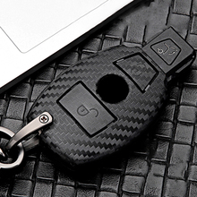 Carbon Fiber Car Key Case Cover For Mercedes Benz A B C E S Class W205 W203 W210 W211 W212 W124 W202 W204 W176 GLC CLA BGA AMG cla220 cla250 cla260 car trunk rear letters badge emblem logo sticker for mercedes benz cla class w117 w204 w203 w211 w210 w212