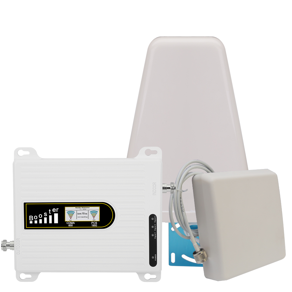 2g 3g 850 1900 Dual Band Signal Amplifier CDMA PCS 4g LTE B5 B2 Cell Phone Signal Booster 3g UMTS Mobile Repeater Antenna