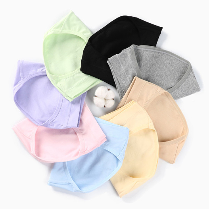 5348# 3PCS/Bag Across V Low Waist Belly Maternity Panties Cotton Briefs For Pregnant Women Summer Pregnancy Underwear Lingerie