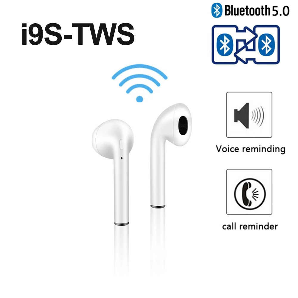 Asli I9 I9s TWS Wireless Headphone Bluetooth 5.0 Earphone 3D Suara Stereo Bass Portable Headset Sport Earpiece PK I7 I7s