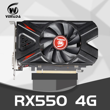 VEINEDA RX550 4GB GDDR5 128bit PCI-E 3.0 HDMI DisplayPort DVI-D 1183/5000MHz karta graficzna do gier nVIDIA Geforce