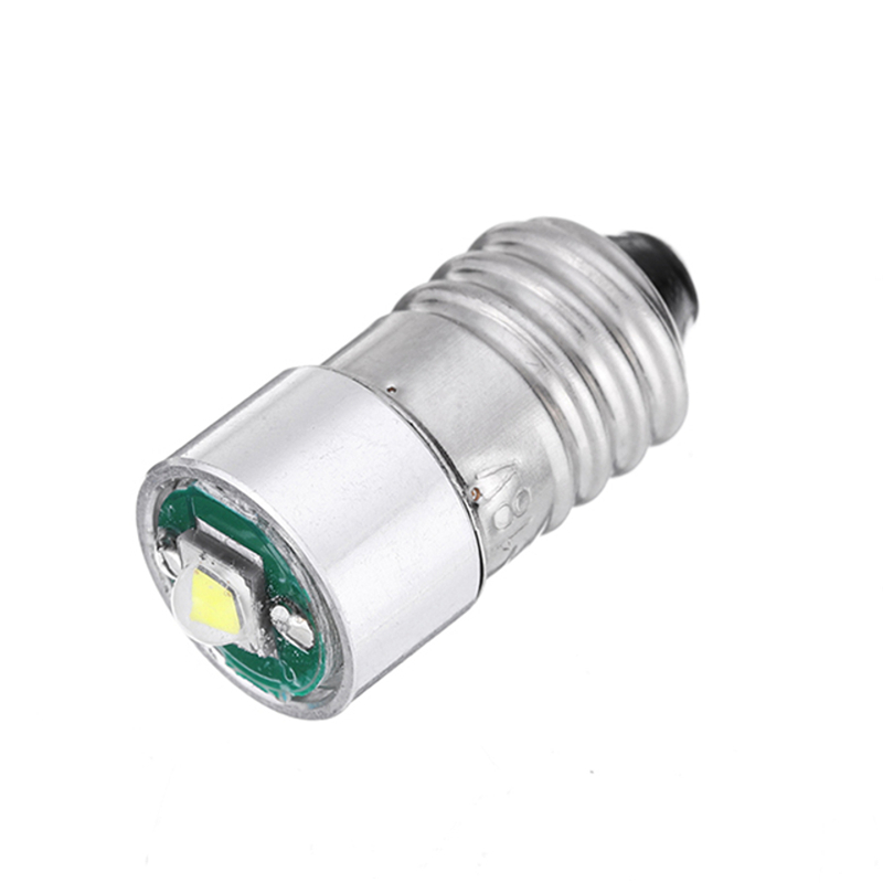 E10 3W LED Flashlight 200LM Replacement Bulb Torch Light DC 3-18V White 1PCS Interior Work Lamp DIY Chips Accessory image