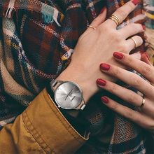 лучшая цена Women Quartz Wrist Watch Fashion Simple Alloy Strap Ladies Wrist Watch Casual High Hardness Glass Mirror Stainless Steel Watch