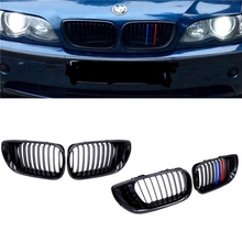 JIUWAN 1Pair Front Kidney Grille Car Racing Grills M color 1Line for BMW 3 Series E46 4 Doors 02-05 318I 320I 325I 330I