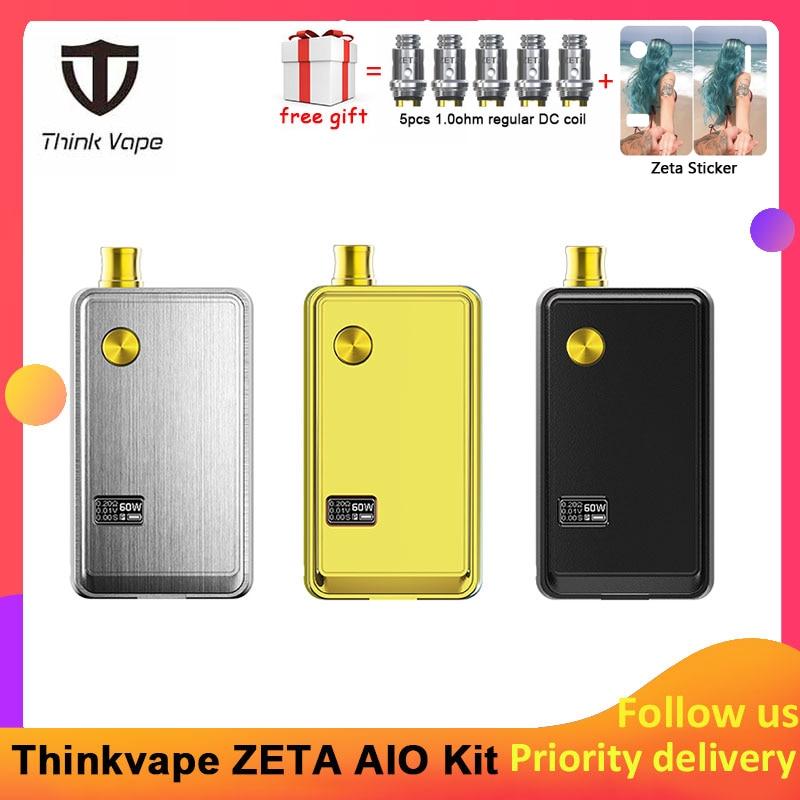 Pre-order Think Vape ZETA AIO 60W Pod Kit Powered By Single 18650 Battery Box Mod 3ml Tank E-cigarette Big Smoke Atomizer