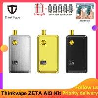Pre order Think Vape ZETA AIO 60W Pod Kit powered by single 18650 battery box mod 3ml tank e cigarette Big smoke atomizer