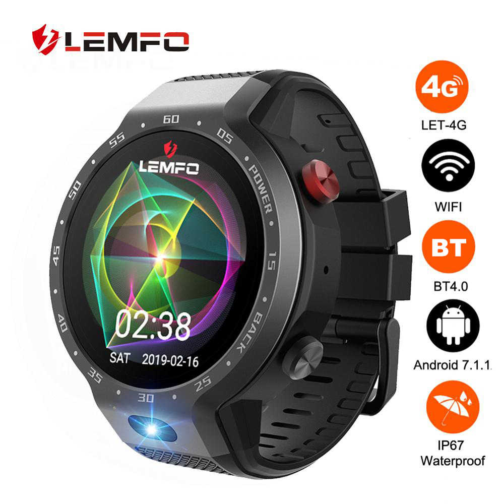 LEMFO LEM9 4G Smart Watch Dual Systems Android 7.1.1 LTE 4G Sim 5MP Front Camera GPS WIFI Heart Rate Smartwatch for Men Women