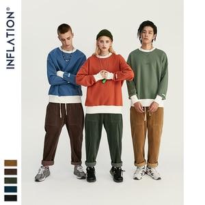Image 4 - INFLATION 2020 Collection Men Casual Pants Wide Wale Men Corduroy Slacks Loose Fit Overalls Solid Color Men Corduroy Pant 93325W