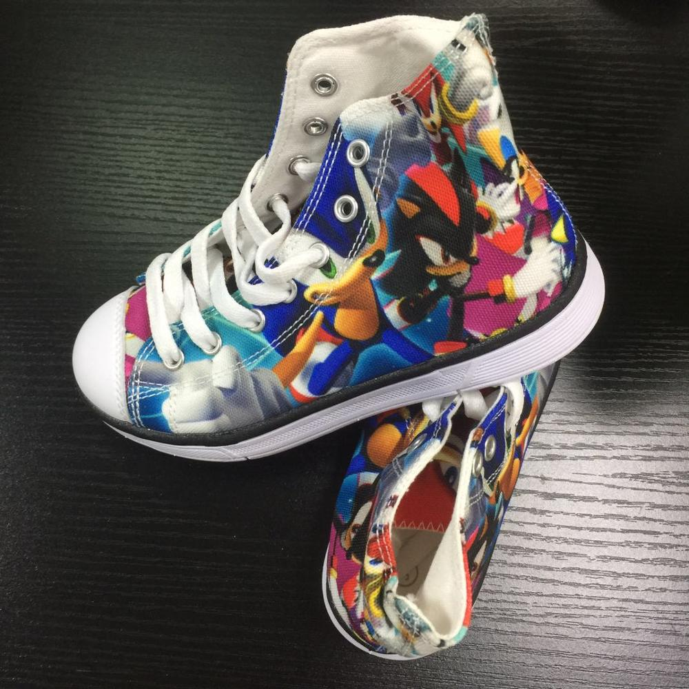Image 4 - HYCOOL Children Running Shoes For Kids Boys Sonic the hedgehog Sneakers Outdoor Sports Shoes High Top Canvas Shoes Toddler ChildWalking Shoes   -