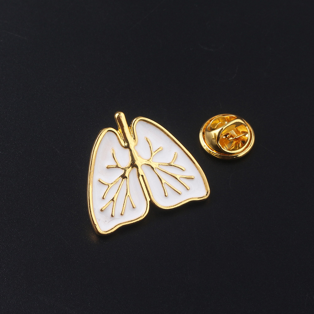 MIDY New Fashion Medical Human Organs Brooch Pin Anatomical Human Heart Lung Spleen Metal Badge Brooches For Women Men Jewelry