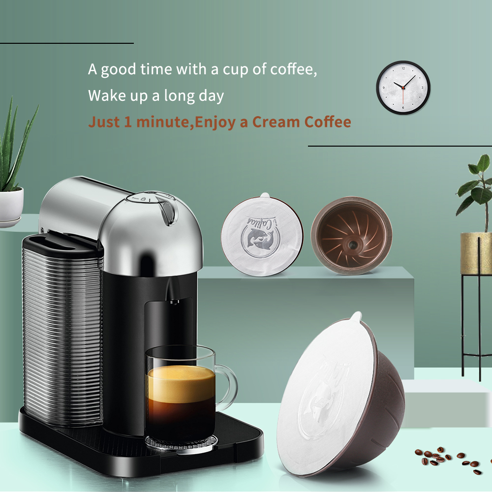 Disposable Coffee Filters For Nespresso Vertuoline Machine Stainless Steel Refillable Reusable Coffee Capsule Pod Brackets