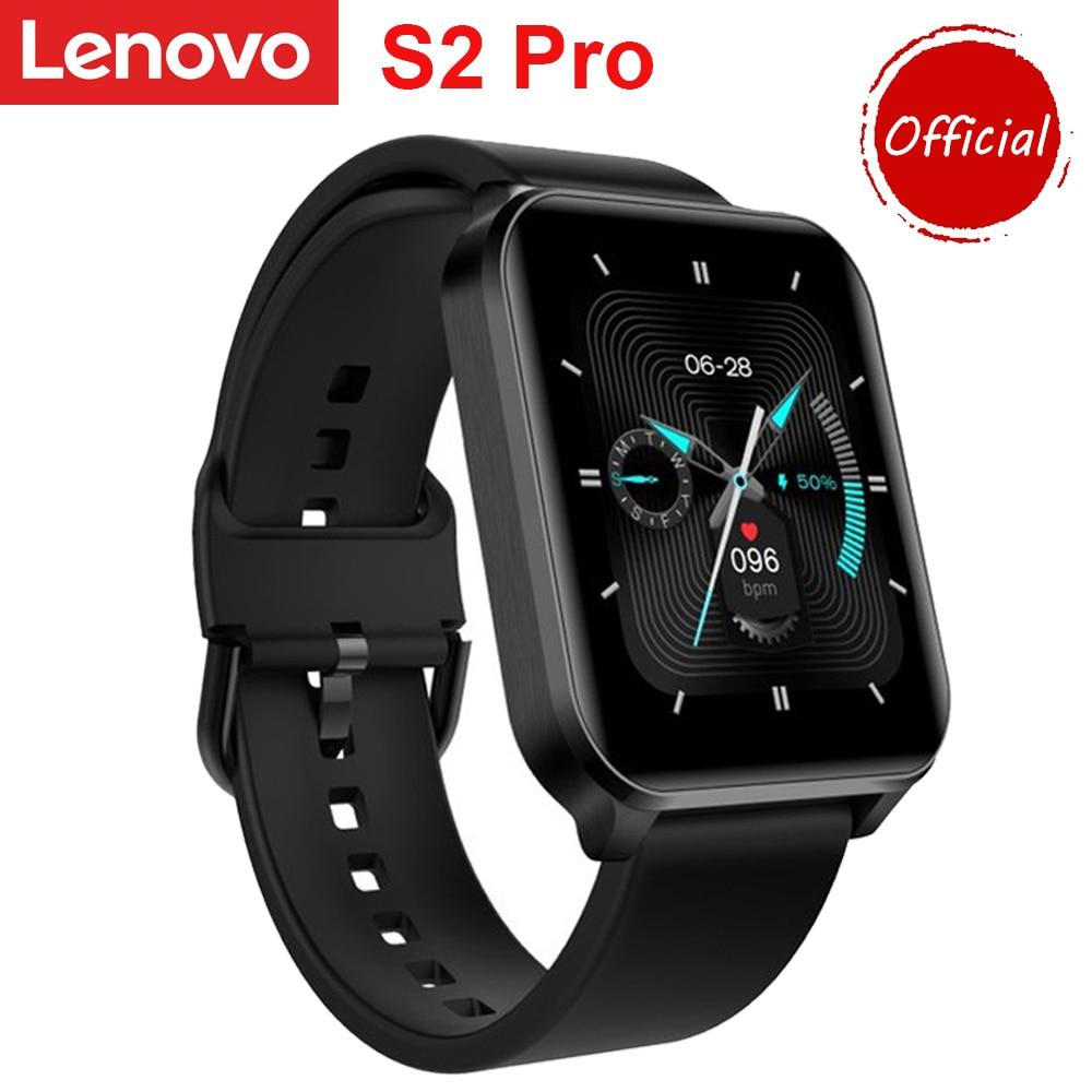 Смарт-часы Lenovo S2 Pro мужские с термометром, пульсометром и сенсорным экраном 1,69 дюйма