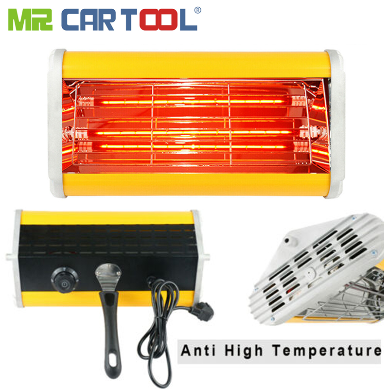 Car Body Paint Repair Painting Infrared Lamps Handheld Paint Curing Lamp Auto Automotive Bake Handhold Heating Ligting Lamp