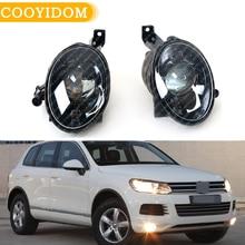 Car Fog Light Fog Lamp Assembly With Convex Lens For VW Touareg 2011 2012 2013 2014  Front Bumper Halogen 7P60941699