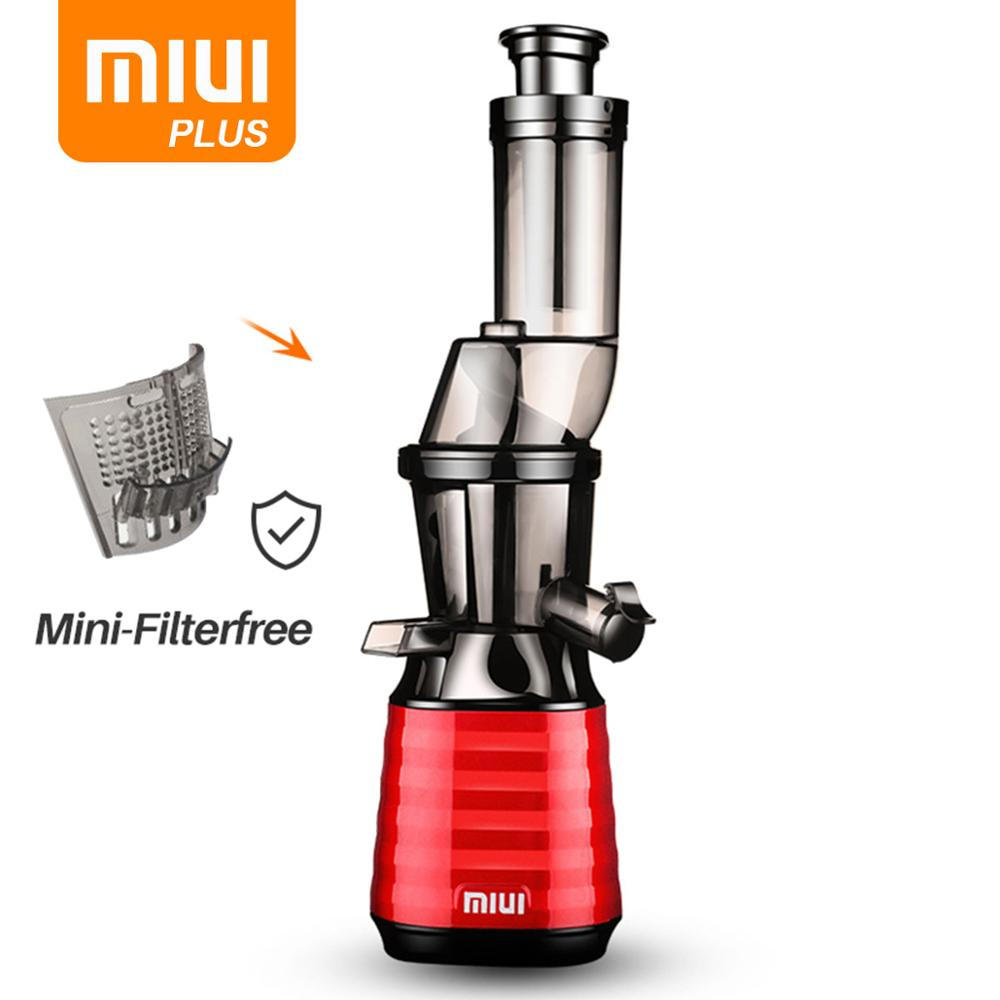 MIUI Slow Juicer Cold Press 7 Level Slow Masticating Juice Extractor Mini-FilterFree Patented Deft Design Strip 2020 PLUS Model