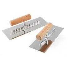 Scraper Mud-Board Construction-Plastering-Tool Plastic-Handle Trowel Bricklaying Stainless-Steel