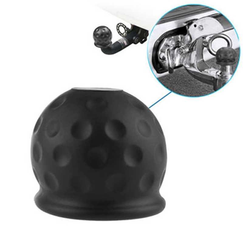Tow Bar Ball Cover Cap Car Towing Hitch Caravan Trailer Towball Protect RubbeVT