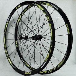 R35 rower szosowy łożysko rowerowe zestaw do kół 700C C/V hamulca koła 11 prędkość płaskie szprychy w Koła roweru od Sport i rozrywka na
