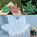 DIY Maple Leaf Ashtray Silicone Molds Crystal Epoxy Resin Ashtray Mold For Handcrafts Table Decoration Jewelry Making Findings