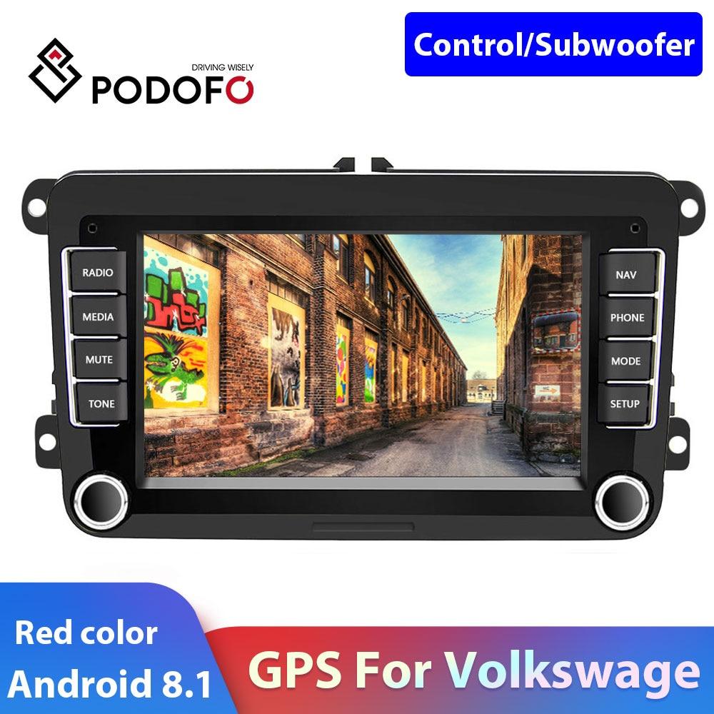 Podofo 2 Din Car Radio Android Car Multimedia Player 2din Autoradio For Volkswagen/Tiguan/Passat/SEAT/Skoda/Octavia Car Stereo