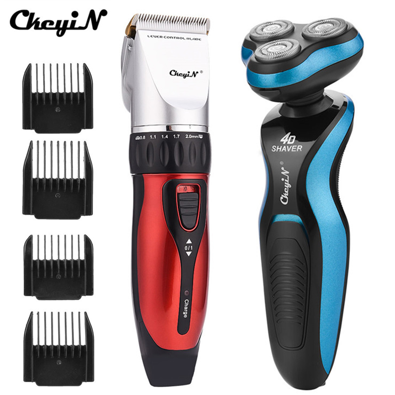 Hair Trimmer Rechargeable Electric Ceramic Blade Hair Clipper Men's Cordless Haircut 3D Rotation Shaver Mustache Cutter Razor