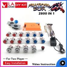pandora box CX 2800 games in 1 4 players 2020 new  arcade diy kit copy sanwa joystick chrome plated led push button