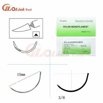 12Pcs/set Nylon Monofilament Medical Thread With Needle Suture Training Practice 75cm to Improve Medical Technique Exercise Tool 4