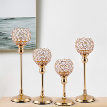 Crystal Tealight Candle Holders Metal Glass Candlesticks Wedding Table Centerpiece Party Christmas Home Decoration
