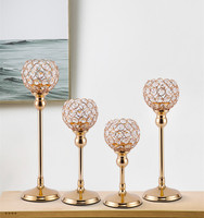 Kristall Teelicht Kerzenhalter Metall Glas Leuchter Hochzeit Tafelaufsatz Party Weihnachten Home Dekoration-in Kerzenhalter aus Heim und Garten bei