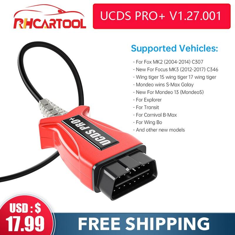 Автомобильные аксессуары OBD2 диагностический инструмент UCDS Pro для UCDS PRO UCDSPRO программное обеспечение V1.27 Полная функция для Ford Focus 3 для Ford kuga1