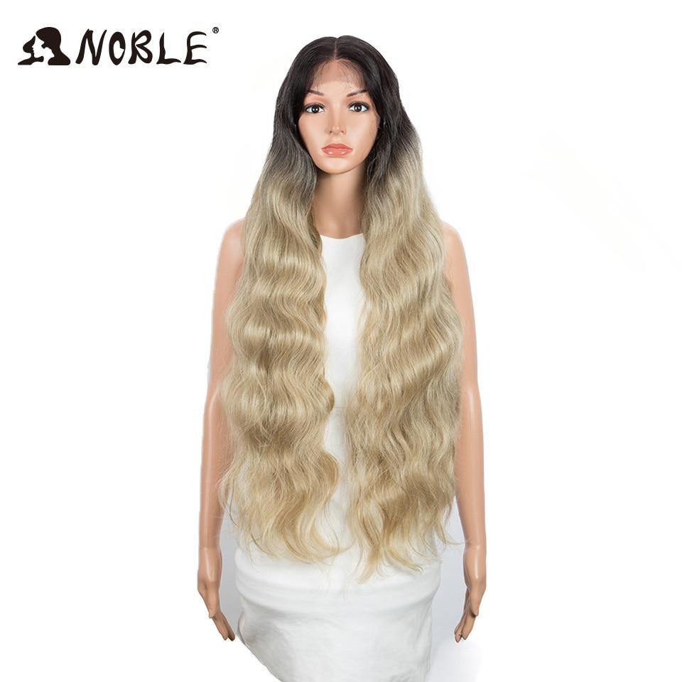 negras peruca longa ondulada 32 Polegada loira