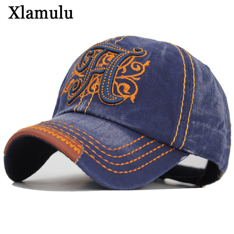 Xlamulu New Men Jeans Snapback Cap Cotton Baseball Hats For Men Women Gorras Casquette Bone Casual Trucker Men Dad Male Caps H