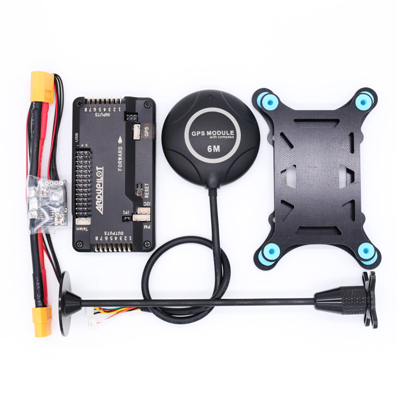 APM2.8 APM 2.8 flight controller+6M GPS built-in compass+xt60/T Plug power module +gps stand+shock absorber for RC Multicopter image