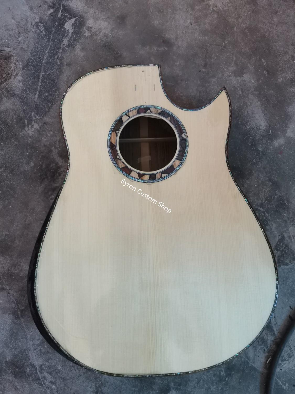Бесплатная доставка твердая древесина под заказ 41 дюймовая Акустическая гитара сделай сам на заказ подлокотник гитара ручной работы акуст...