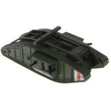 1/100 escala mk. Iv modelo masculino, tanque de batalha britânico da primeira guerra mundial, blindado combate veículo brinquedo colecionáveis