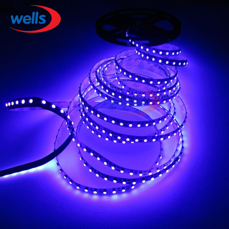16.4ft 5M <font><b>UV</b></font> Ultraviolet <font><b>led</b></font> strip 395nm 3528 SMD Purple 600 <font><b>LED</b></font> Flex Strip Light Non Warterproof <font><b>12V</b></font> image