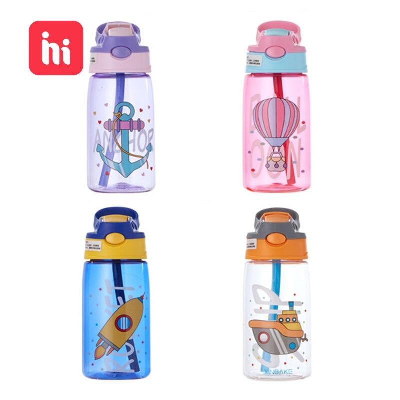 Feeding-Cups Straws Water-Cup Baby Outdoor Creative Kids Portable Children's Cartoon