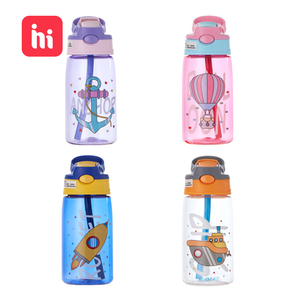 Feeding-Cups Straws Water-Cup Baby Leakproof Kids Portable Children's Cartoon 480ML